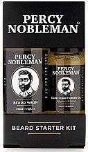 Парфюмерия и Козметика Комплект - Percy Nobleman Beard Starter Kit (beard/shm/30ml + beard/oil/10ml)