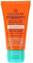 "Парфюми, Парфюмерия, козметика Слънцезащитен крем за лице ""Активна защита"" - Collistar Active Protection Sun Face Cream SPF 50+ (тестер)"