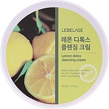 Парфюмерия и Козметика Почистващ крем за лице с екстракт от лимон - Lebelage Lemon Detox Cleansing Cream