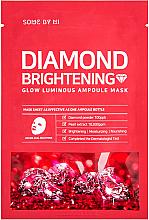 Парфюмерия и Козметика Изсветляваща маска за лице с диамантен прах - Some By Mi Diamond Brightening Calming Glow Luminous Ampoule Mask