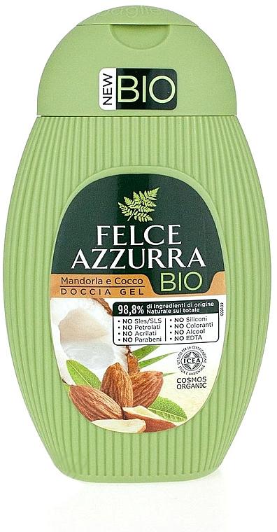 Душ гел с бадем и кокос - Felce Azzurra BIO Almond&Coconut Shower Gel — снимка N1