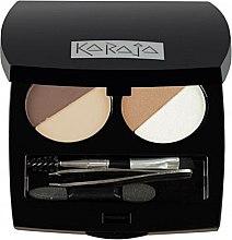Парфюмерия и Козметика Професионален комплект сенки за очи и вежди - Karaja Eye & Brow Basic (2g)
