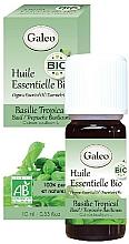 Парфюмерия и Козметика Органично етерично масло от тропически босилек - Galeo Organic Essential Oil Basilic Tropical
