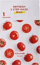 Двуфазна маска за лице с домат - Village 11 Factory Refresh 2-Step Mask Red — снимка N2