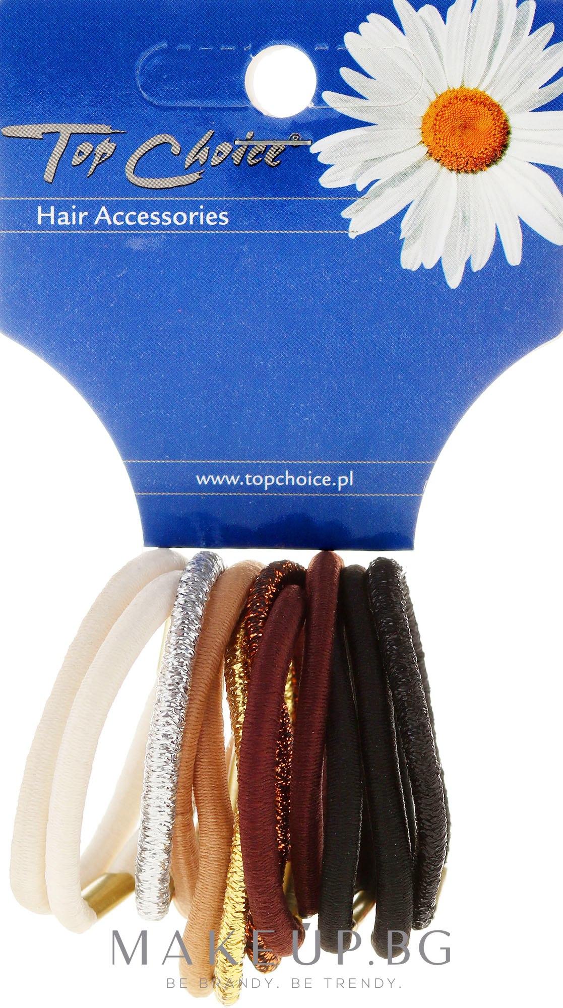 Ластици за коса 12 бр., микс от цветове - Top Choice — снимка 12 бр