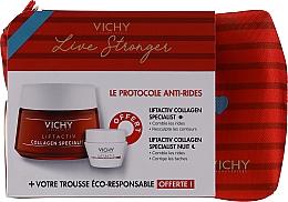 Парфюмерия и Козметика Комплект - Vichy LiftActiv Le Protocole Anti-Rides (дн. крем/50ml + нощ. крем/15ml)