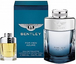 Парфюмерия и Козметика Bentley Bentley For Men Azure - Комплект тоалетна вода (edt/100ml + edt/7ml)