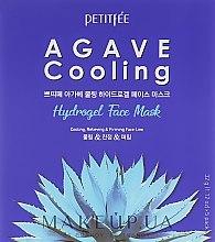 Парфюмерия и Козметика Хидрогелна хидратираща маска за лице с екстракт от столетник - Petitfee&Koelf Agave Cooling Hydrogel Face Mask