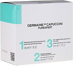 Парфюмерия и Козметика Комплект - Germaine de Capuccini Purexpert Special Set 1-2-3 Oily (f/foam/30ml + fluid/50ml + f/gel/50ml)