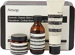 Парфюмерия и Козметика Комплект за лице - Aesop Quench Classic Skin Care Kit (тонер/100ml + почист.крем/100 + крем/60)