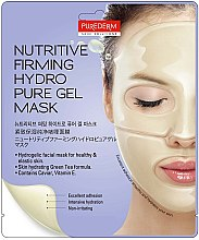 Парфюмерия и Козметика Хидрогелна подхранваща и укрепваща маска за лице - Purederm Nutritive Firming Hydro Pure Gel Mask