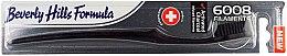 Парфюмерия и Козметика Мека четка за зъби - Beverly Hills Formula 6008 Filament Charcoal Toothbrush
