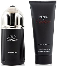 Парфюми, Парфюмерия, козметика Cartier Pasha de Cartier Edition Noire - Комплект (тоал. вода/100ml + душ гел/100ml)