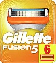 Парфюмерия и Козметика Сменяеми ножчета за бръснене , 6 бр. - Gillette Fusion