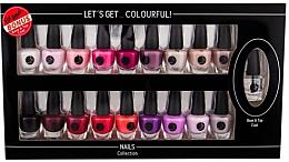 Парфюми, Парфюмерия, козметика Комплект лакове за нокти - Cosmetic 2K Let'S Get Colourful! (nail/laquer/19х3,5ml)