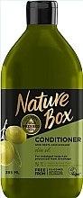Парфюмерия и Козметика Балсам за дълга коса със студено пресовано маслиново масло - Nature Box Conditioner Olive Oil