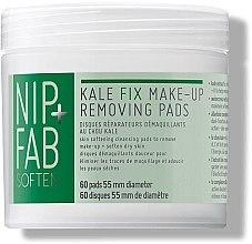Парфюми, Парфюмерия, козметика Козметични тампони за почистване на грим - Nip + Fab Kale Fix Removing Pads