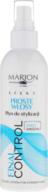 Лосион за моделиране на права коса - Marion Final Control Styling Lotion For Stright Hair