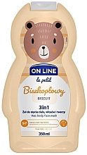 Парфюмерия и Козметика Измиващ гел за коса, тяло и лице с аромат на бисквитки - On Line Le Petit Biscuit 3 In 1 Hair Body Face Wash