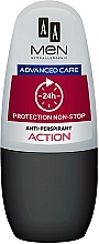 Рол-он дезодорант - AA Men Protection Advance Care Non-Stop 24h Anti-Perspirant Action — снимка N1