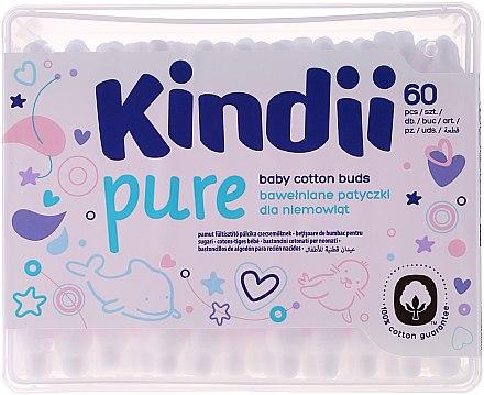"""Детски клечки за уши """"Kindi"""", 60 бр. - Cleanic Kids Care Cotton Buds — снимка N1"""