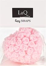 """Парфюмерия и Козметика Ръчно изработен натурален сапун """"Сърдце с рози"""" с аромат на вишни - LaQ Happy Soaps Natural Soap"""