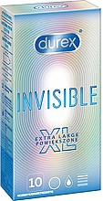 Парфюмерия и Козметика Презервативи, 10 бр. - Durex Invisible Extra Large