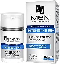 Парфюмерия и Козметика Възстановяващ крем за лице - AA Men Advanced Care Intensive 50+ Face Cream Rebuilding