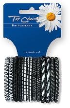 Ластици за коса 12 бр., микс 22371 - Top Choice