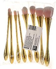 Парфюмерия и Козметика Професионален комплект четки за грим, 8 бр, розово-златни - Tools For Beauty