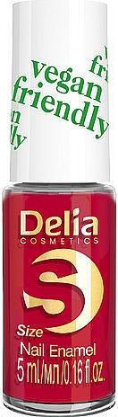 Лак за нокти - Delia Cosmetics S-Size Vegan Friendly Nail Enamel