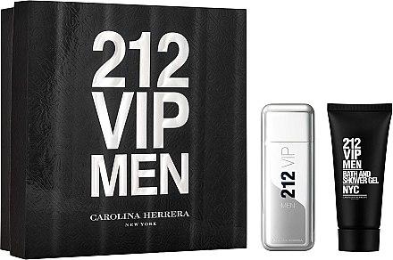 Carolina Herrera 212 VIP Men - Комплект (тоал.вода/100ml + душ гел/100ml) — снимка N1