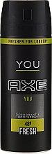 Парфюми, Парфюмерия, козметика Дезодорант-спрей - Axe You Fresh Deodorant Spray