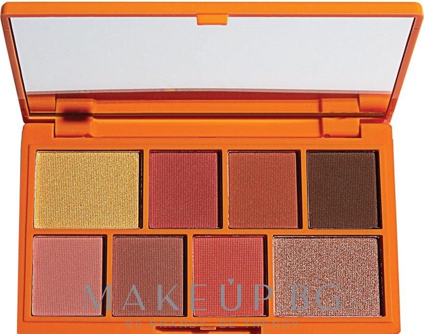 Палитра сенки за очи, 8 цвята - Makeup Revolution I Heart Revolution Mini Eyeshadow Palette — снимка Choc Orange