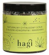 Парфюмерия и Козметика Натурален цитрусов скраб с масло от коноп и макадамия - Hagi Scrub