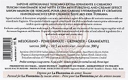 """Сапун """"Нар"""" - La Florentina Pomegranate Bath Soap — снимка N5"""