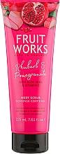 """Парфюмерия и Козметика Скраб за тяло """"Ревен и Нар"""" - Grace Cole Fruit Works Body Scrub Rhubarb & Pomegranate"""