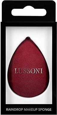Гъба за грим, бордо - Lussoni Raindrop Makeup Sponge — снимка N1