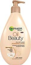 Парфюми, Парфюмерия, козметика Лосион за суха кожа - Garnier Oil Beauty Body Lotion Dry Skin