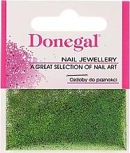 Парфюмерия и Козметика Donegal - Брокат за маникюр в зелено