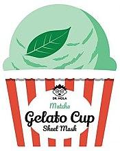 Парфюмерия и Козметика Памучна маска за лице - Dr. Mola Matcha Gelato Cup Sheet Mask