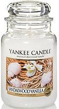 Парфюми, Парфюмерия, козметика Ароматна свещ в стъклено бурканче - Yankee Candle Sandalwood Vanilla