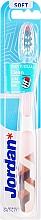 Парфюмерия и Козметика Мека четка за зъби Individual Clean, бяла с бежово - Jordan Individual Clean Soft