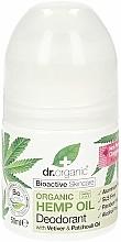 Парфюмерия и Козметика Дезодорант рол-он с конопено масло - Dr. Organic Bioactive Skincare Hemp Oil Deodorant