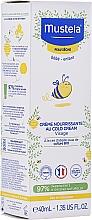 Парфюмерия и Козметика Детски подхранващ крем за лице против студ - Mustela Bebe Nourishing Cream with Cold Cream
