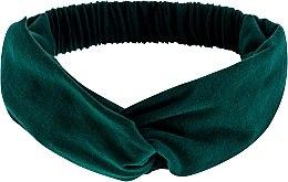 """Парфюмерия и Козметика Лента за глава, от плат, изумрудена """"Knit Twist"""" - MakeUp Hair Accessories"""