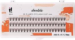 Парфюмерия и Козметика Мигли на снопчета, C 8 mm - Ibra 20 Flares Eyelash Knot Free Naturals