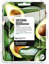 """Парфюми, Парфюмерия, козметика Памучна маска за лице """"Авокадо"""" - Superfood For Skin Softening Sheet Mask"""