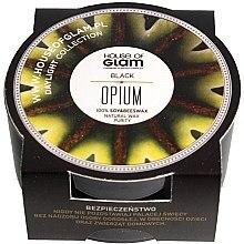 Парфюмерия и Козметика Соева ароматна свещ - House of Glam Black Opium Candle (мини)