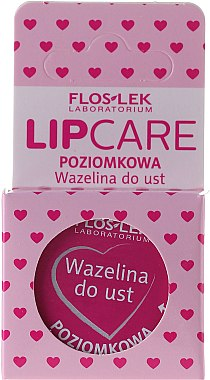 "Вазелин за устни ""Ягода"" - Floslek Lip Care Cosmetic Lip Vaseline Wild Strawberry  — снимка N2"